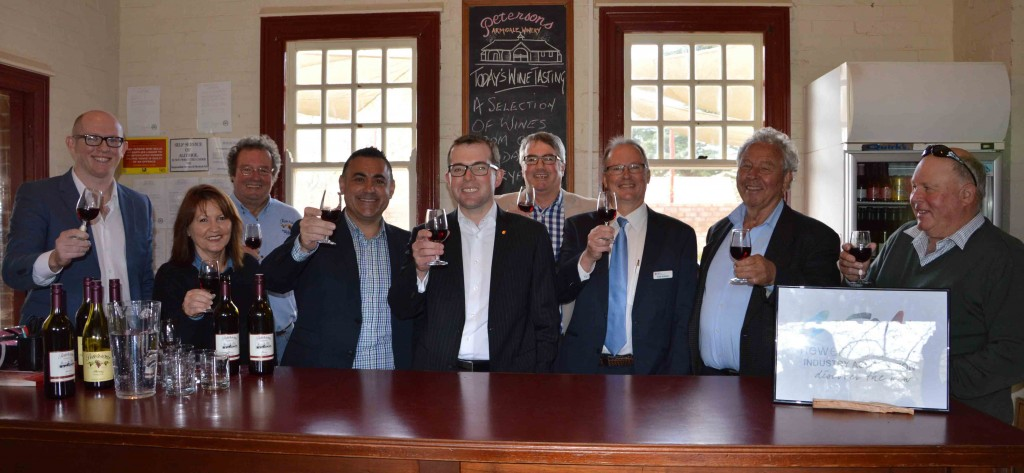 Minister Barilaro visit - wine industry announcement