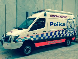 Mobile drug  breath test vehicle