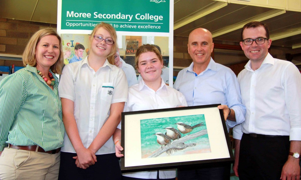 Education Minister in Moree Babbler project