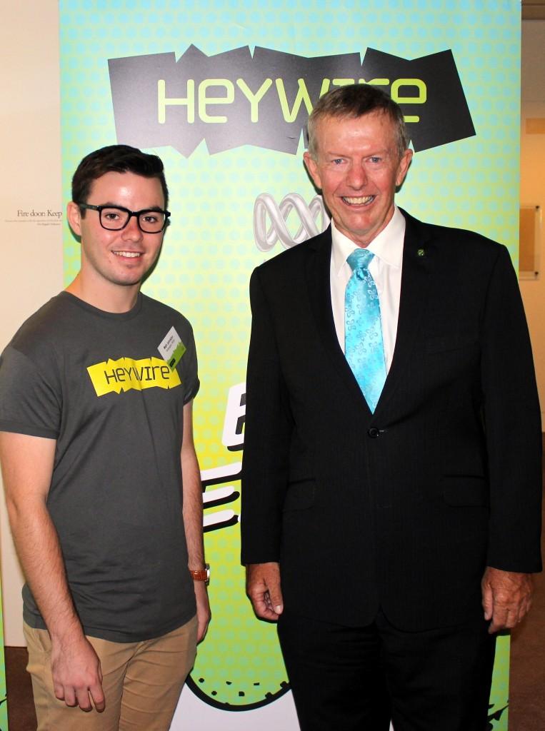Winner Matt Johnston with MC