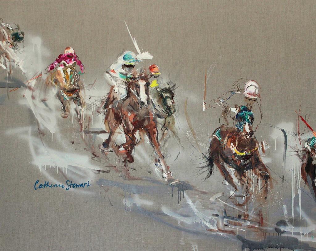 Catherine Stewart Bush Picnics 152 x 122cms