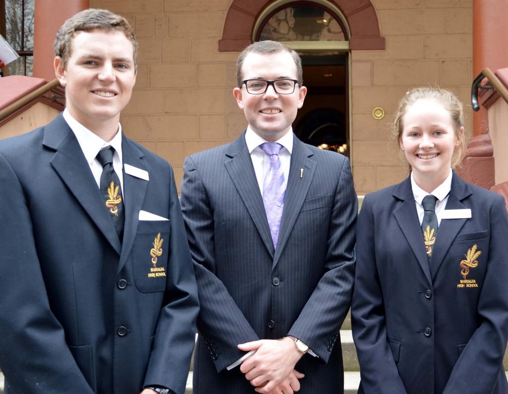 Warialda HS student leaders visit Parly