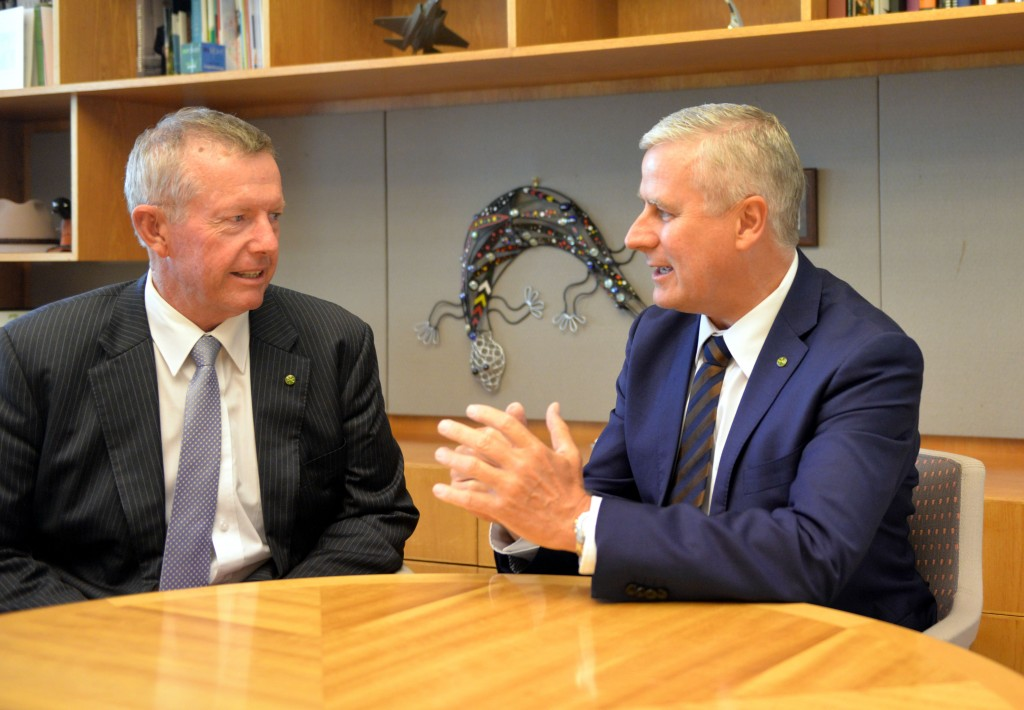 Mark Coulton (Parkes) and Minister McCormack