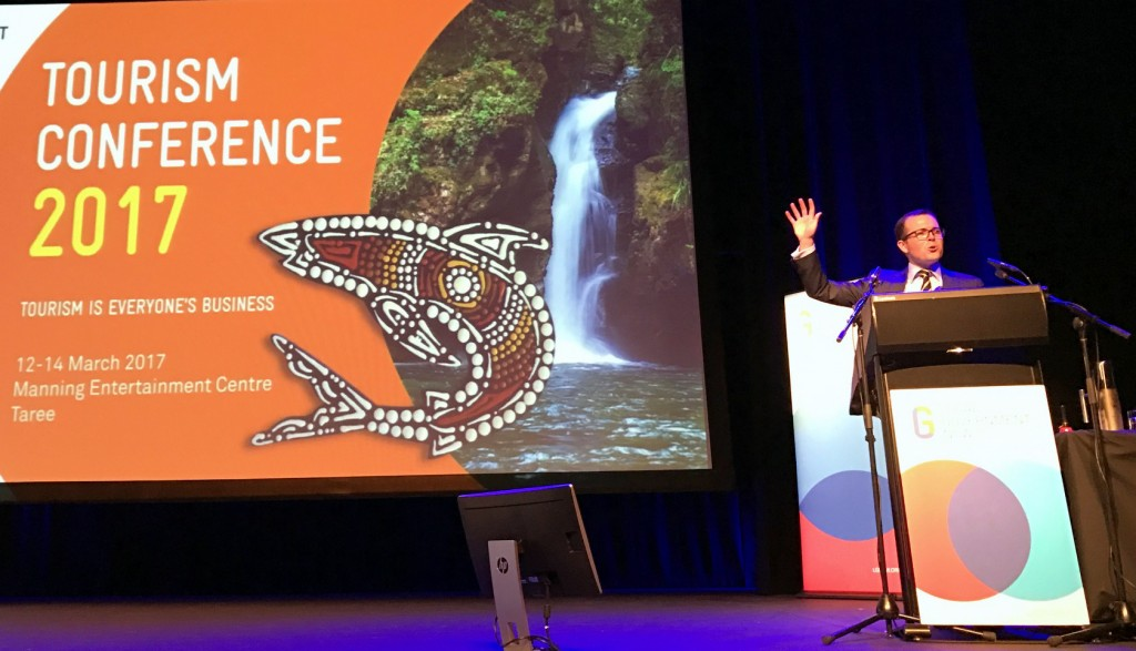 Adam Marshall speaking at the Local Government NSW Tourism Conference in Taree